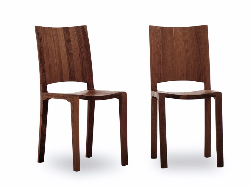 Solid wood chair PIANO DESIGN CHAIR by Riva 1920