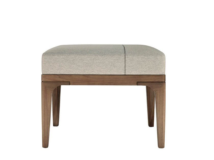 Low upholstered fabric stool PIANPIAN | Low stool by HC28