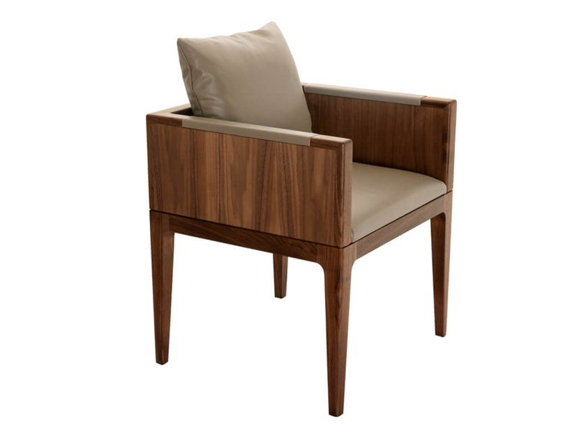 Wooden chair with armrests PIANPIAN | Chair with armrests by HC28