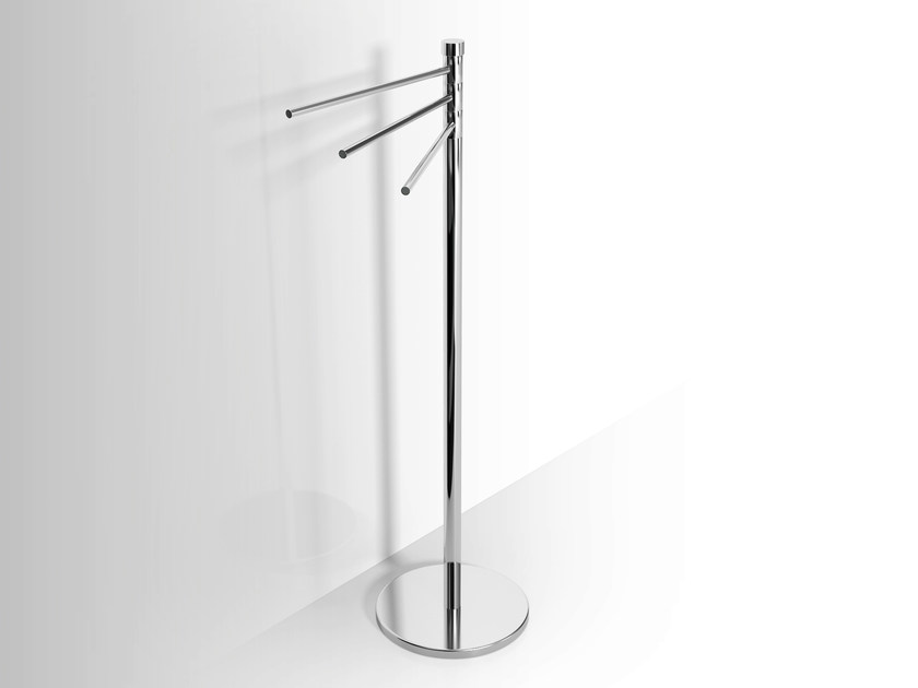Standing metal towel rack Swivel towel rack by Alna