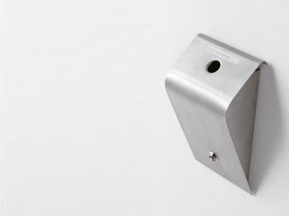 Wall-mounted stainless steel ashtray PIAZZA by Caimi Brevetti