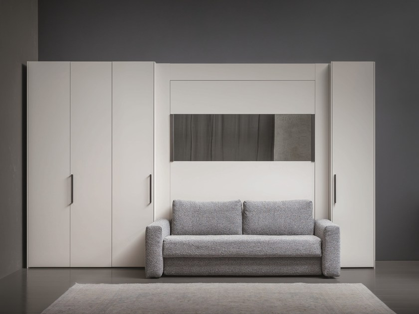 Mirrored wall bed PIAZZAUOMO for wall by Flou