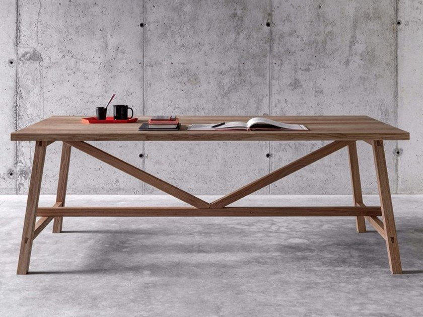 Rectangular solid wood table PIAZZALUNGA by FIORONI