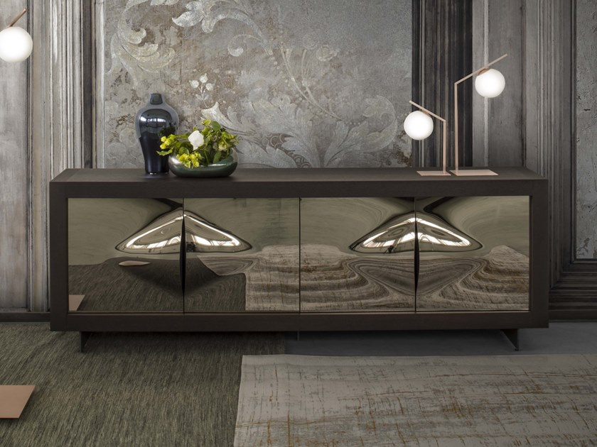 Honeycomb sideboard with doors PICASSO P12 VENERE by RIFLESSI