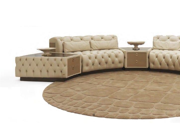 Tavolino basso in pelle con vano contenitore da salotto PICCADILLY CIRCUS | Tavolino by Formitalia