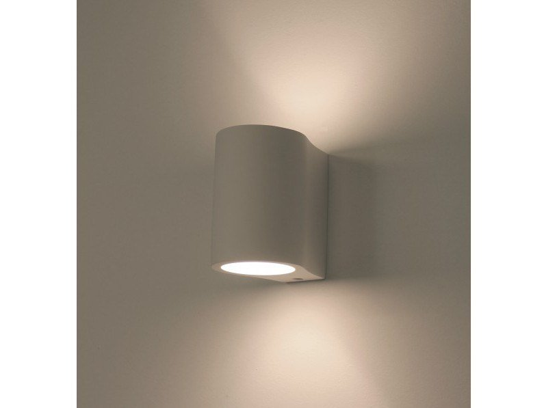 Direct-indirect light plaster wall light PICCOLA by GESSO