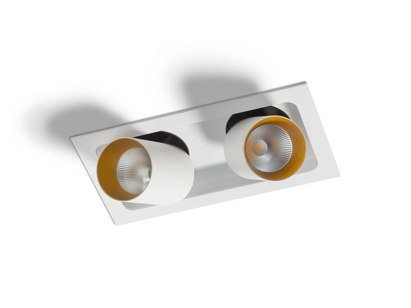 LED semi-inset spotlight PICCOLO BOGD FRAME DOUBLE by Orbit