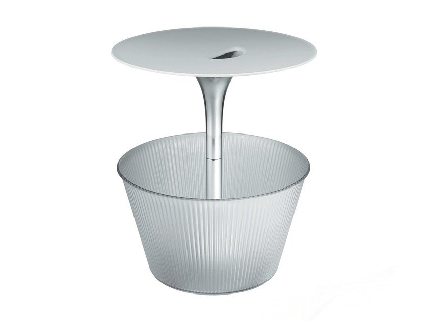 Side table with integrated magazine rack PICK-UP by Alessi