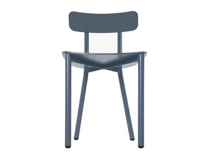 Open back aluminium chair PICTO by STIP