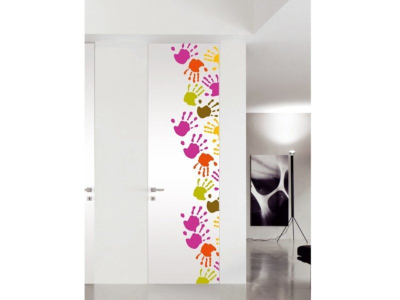 Flush-fitting lacquered door PICTURE DOORS by BLUINTERNI