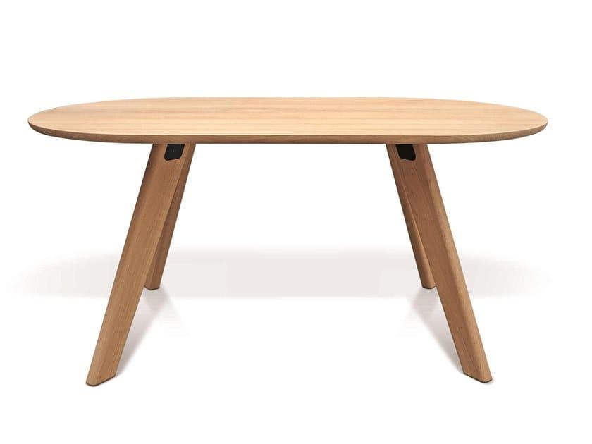 Oval Oak Dining Table Pie By Atipico Design Alessio Romano