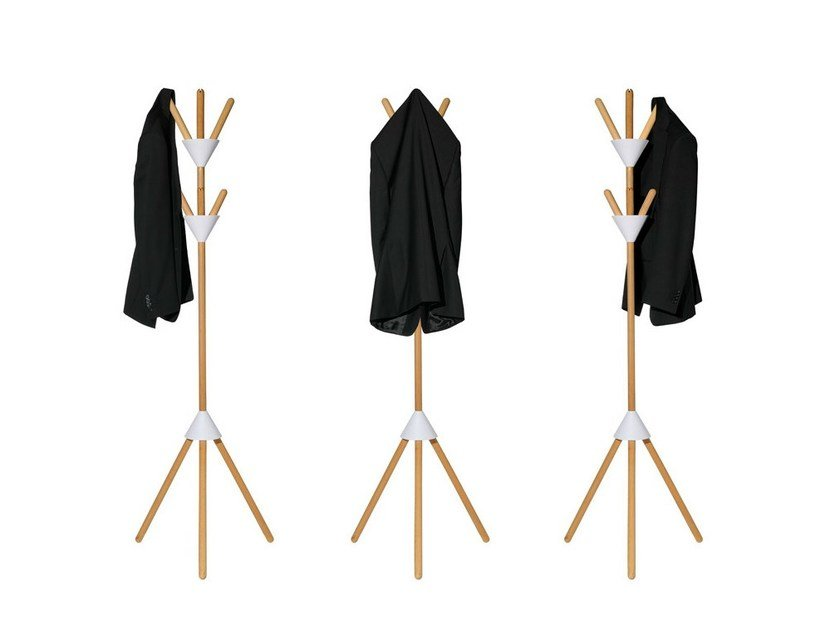 Wooden coat stand PIERROT by Alessi