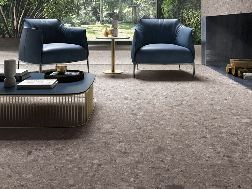 Indoor/outdoor porcelain stoneware flooring with stone effect PIETRA D'ISEO by COTTO D'ESTE