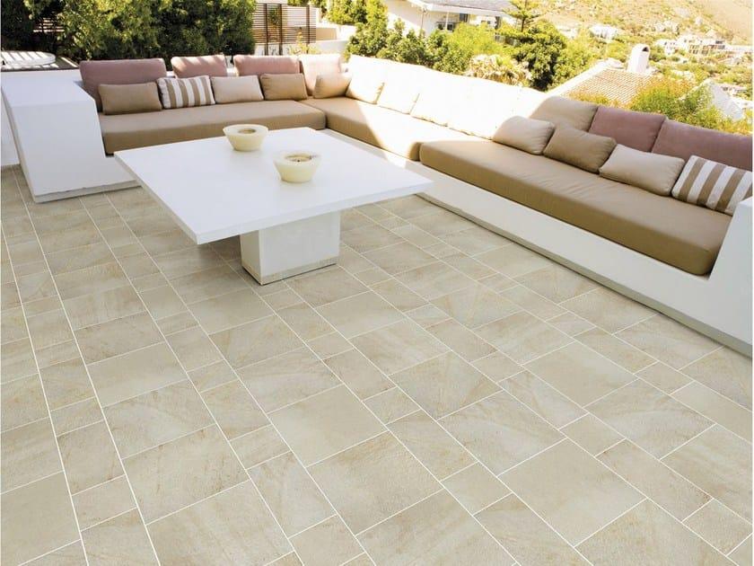 Pavimento de gres porcel nico esmaltado para interiores y for Ceramica para exteriores
