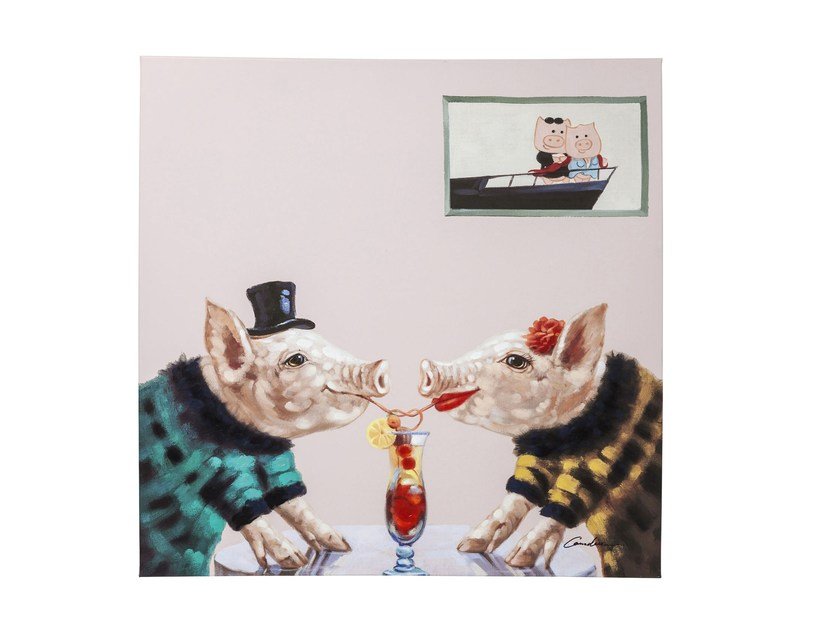 Canvas print PIGS IN LOVE by KARE-DESIGN
