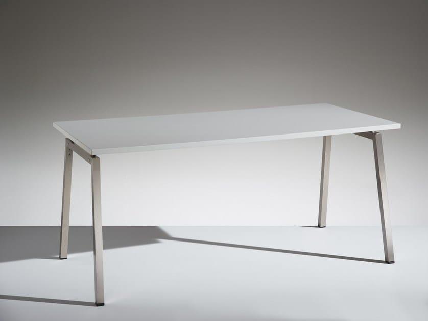 Modular rectangular meeting table PIKAPPA by LAMM