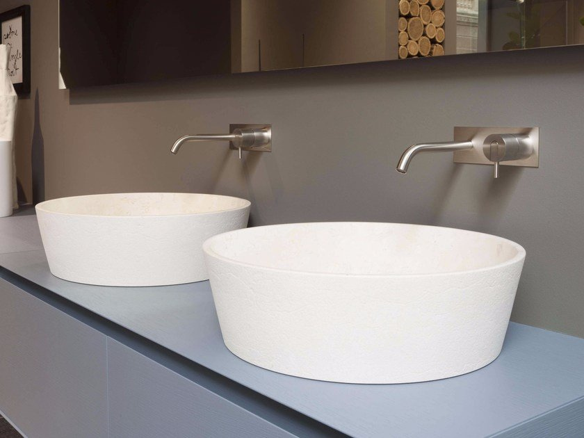 Marble washbasin PILA by Antonio Lupi Design