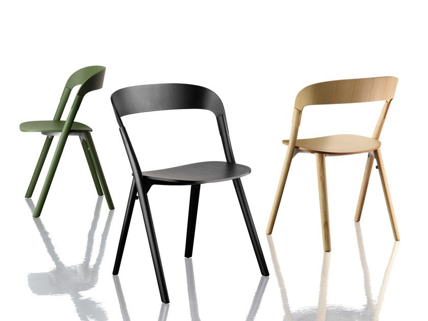 Stackable Multi Layer Wood Chair PILA By Magis