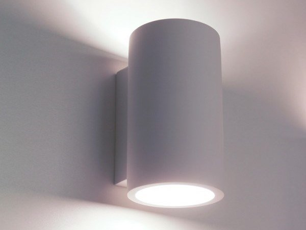LED plaster wall light PILE by GESSO