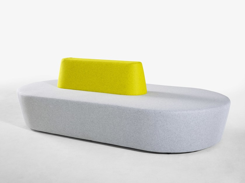 Fabric small sofa PILL | Small sofa by Derlot Editions