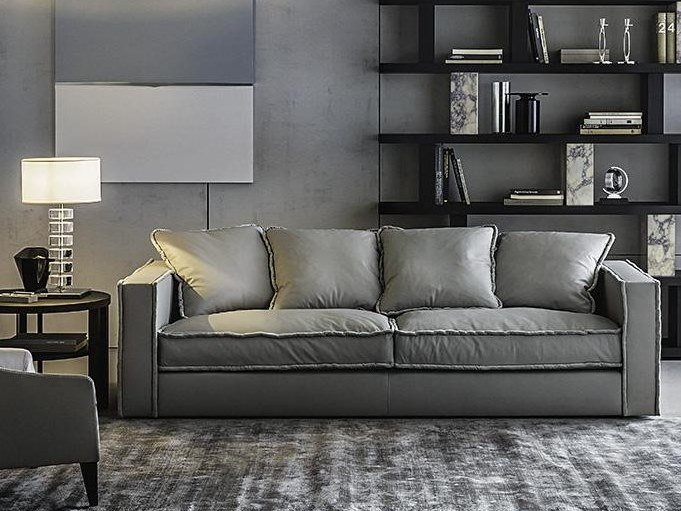 Sectional leather sofa PILLOPIPE | Leather sofa by Casamilano