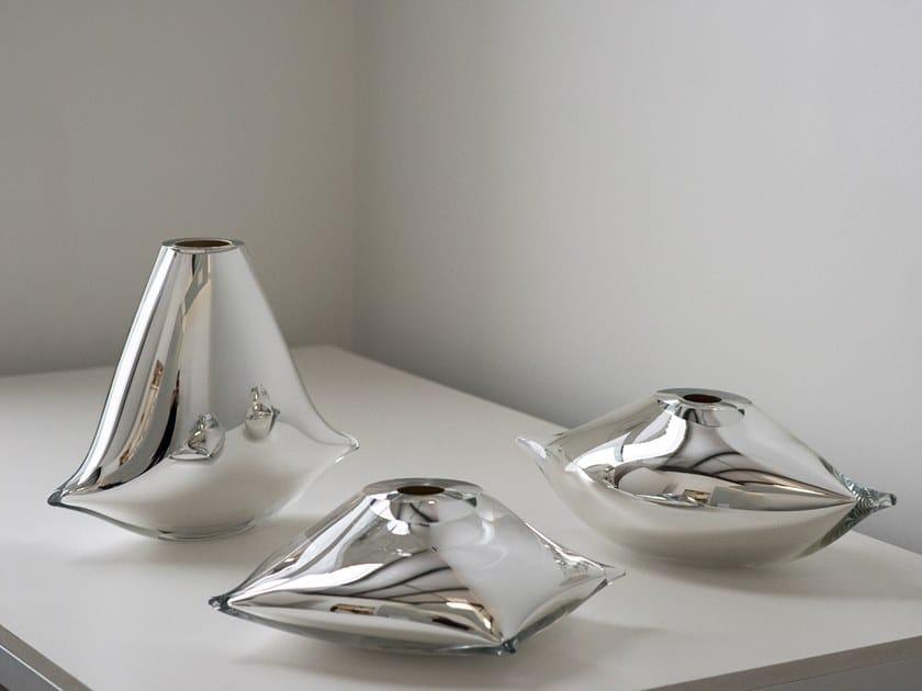 Blown glass decorative object PILLOW VESSEL by SkLO