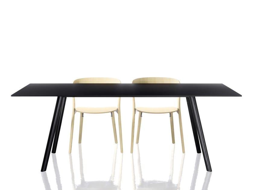 Rectangular table PILO by Magis
