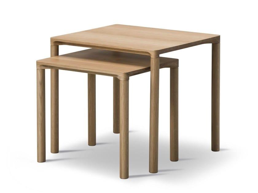 Rectangular oak coffee table PILOTI by FREDERICIA FURNITURE