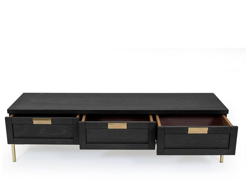 Low TV cabinet with drawers PIMLICO   TV cabinet with drawers by Woodman