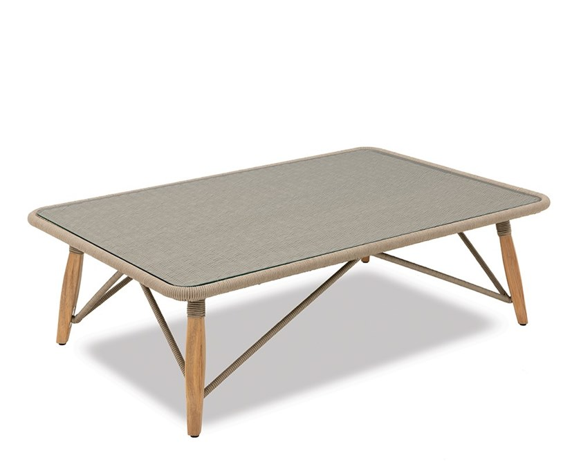 Rectangular rope garden side table PIMLICO | Rectangular coffee table by Indian Ocean