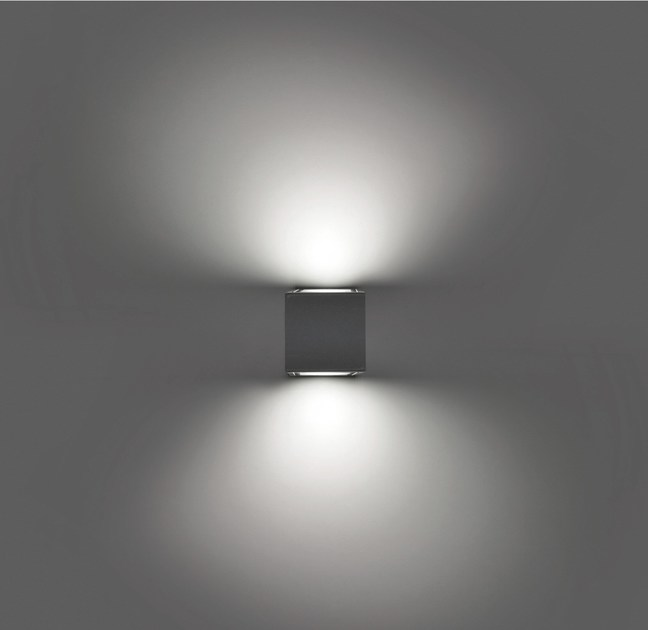 LED direct-indirect light wall lamp PIN F.6829 by Francesconi & C.