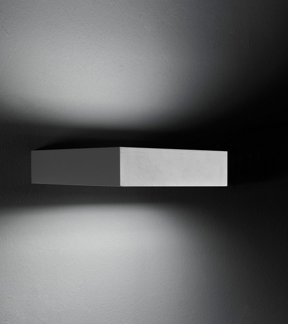 Contemporary style LED direct-indirect light aluminium wall lamp PIN F.8225 by Francesconi & C.