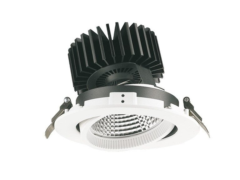 LED round recessed spotlight PIN by LANZINI