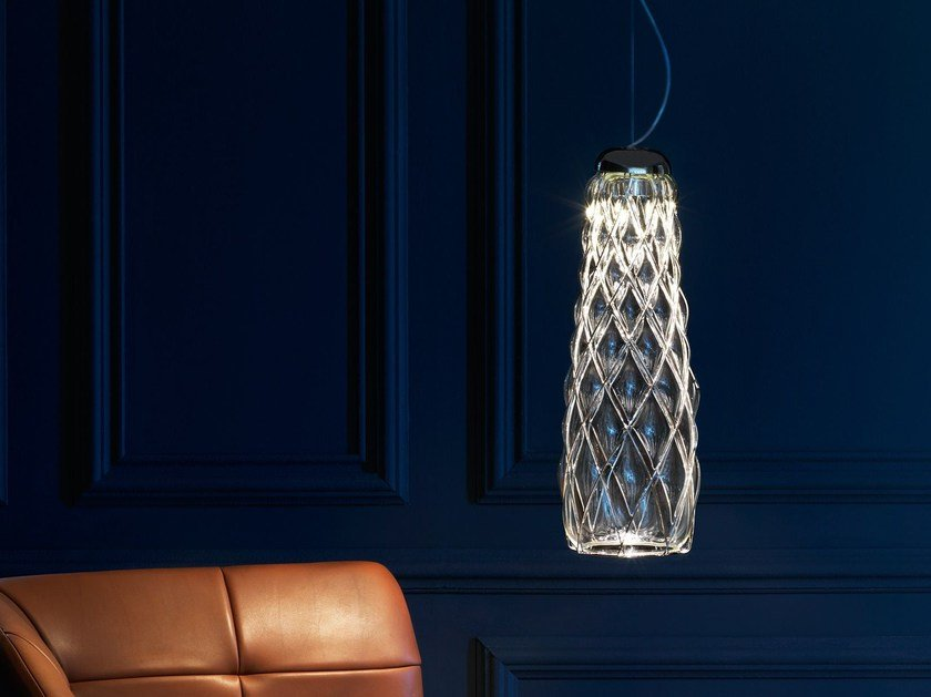 Blown glass pendant lamp PINECONE | Pendant lamp by FontanaArte