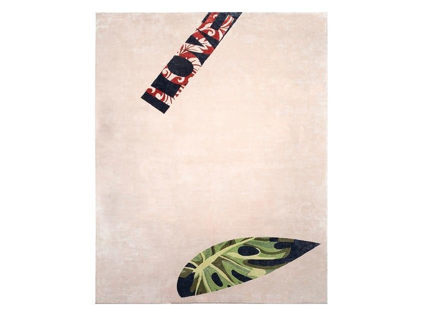 Tapete feito à mão em fibra de bambu PINK by ERBA ITALIA