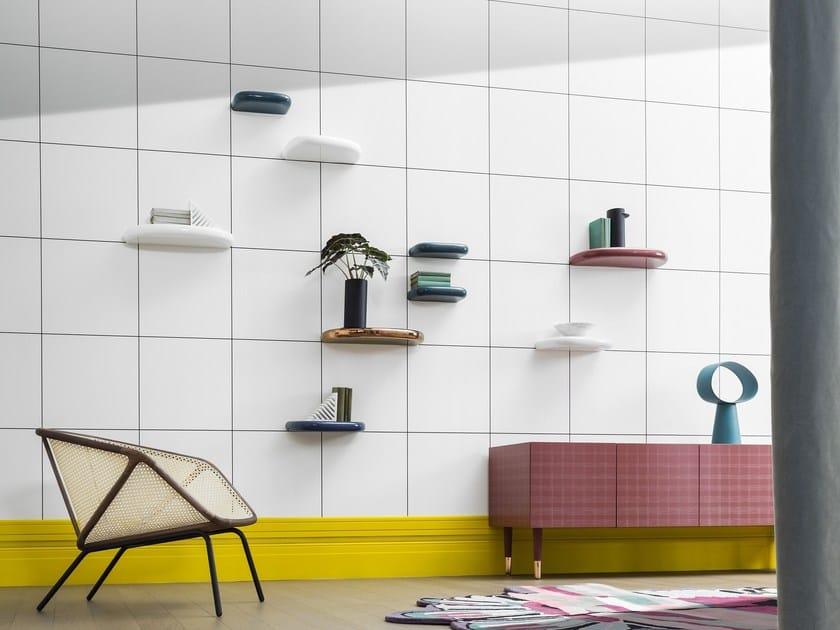 Ceramic wall shelf PINNA by Miniforms