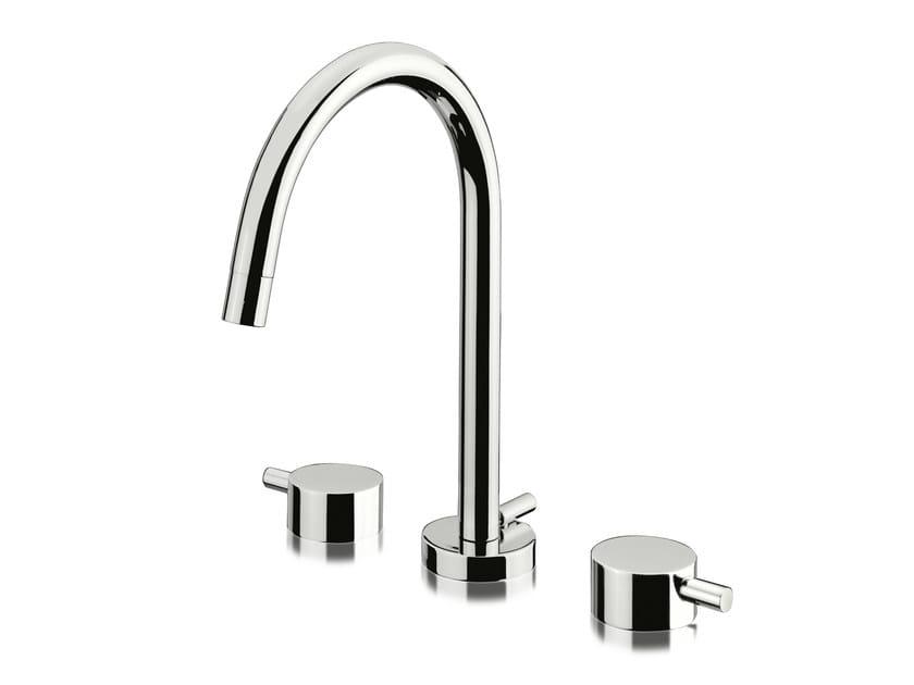 3 hole washbasin tap with automatic pop-up waste PINO' | 3 hole washbasin tap by Signorini