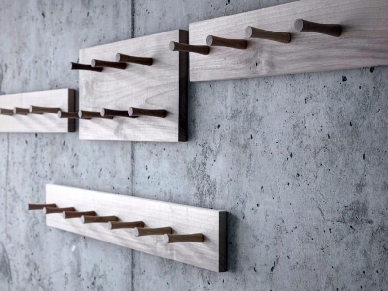 Solid wood coat rack PIOL by FIORONI