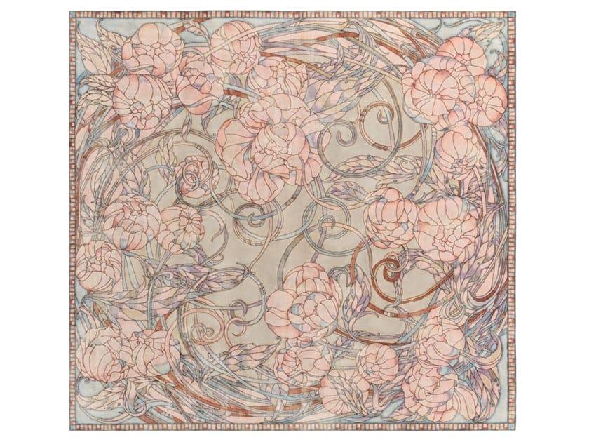 Handmade custom rug PIONY by Thibault Van Renne