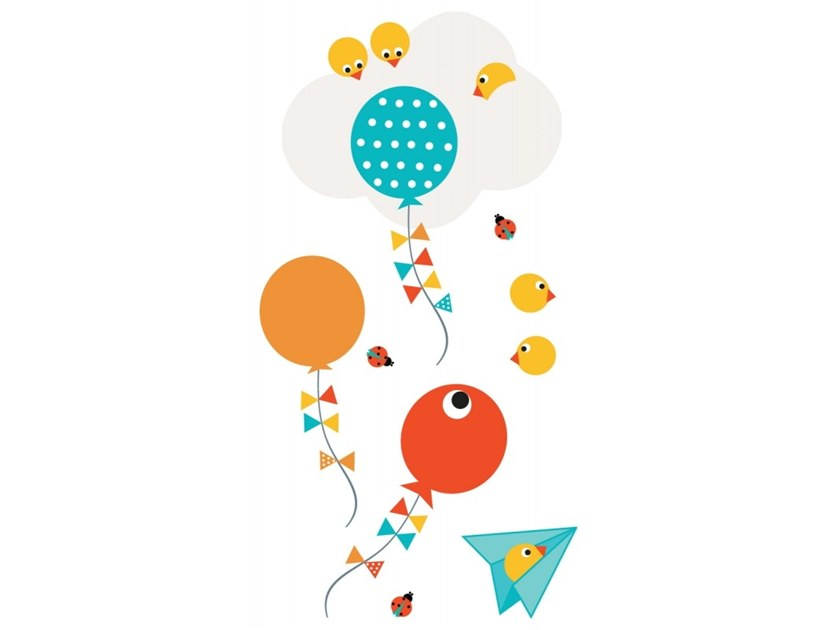 Kids wall sticker PIOU BALLONS by ACTE-DECO