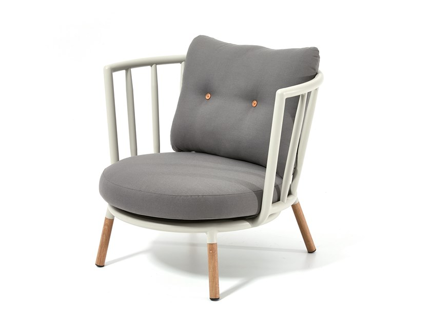 Garden armchair with armrests PIPE | Garden armchair with armrests by Kun Design