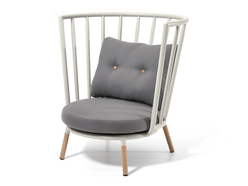 High-back garden armchair PIPE | High-back garden armchair by Kun Design