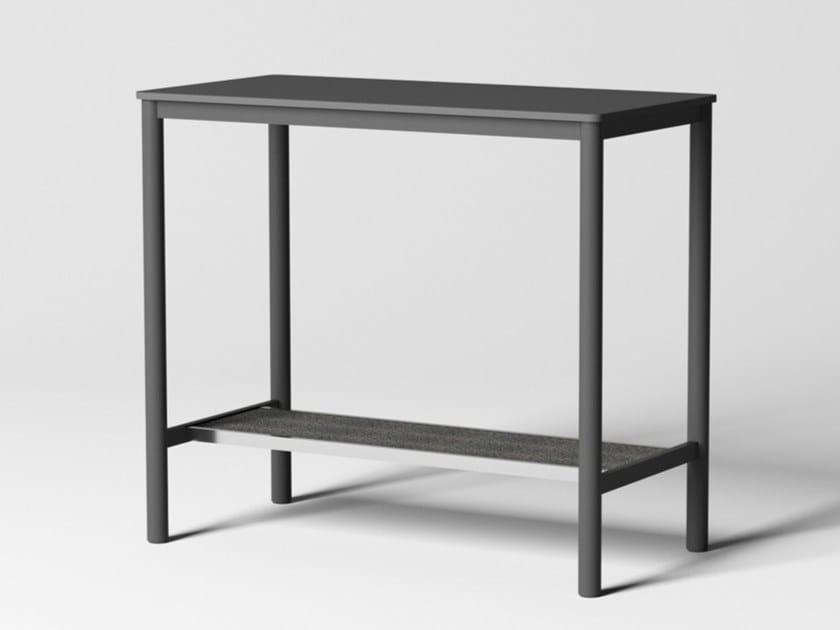 Tavolo rettangolare alto in acciaio con piano in MDF PIPE | Tavolo alto by Grado Design