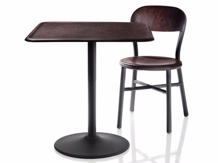 Round wood veneer table PIPE | Table by Magis
