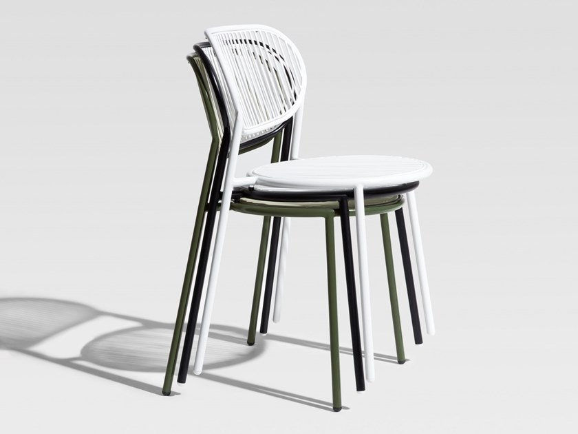 Stainless steel chair PIPER | Chair by DesignByThem