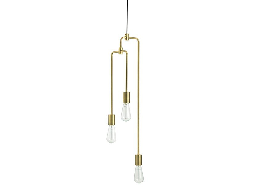 Brass pendant lamp PIPER LOUNGE 3-ARM by Bolia