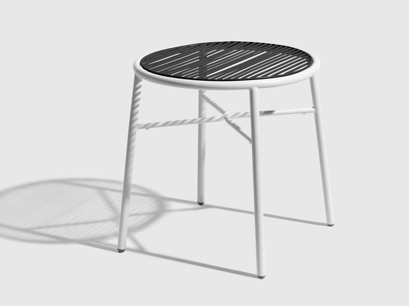 Stainless steel stool PIPER | Low stool by DesignByThem