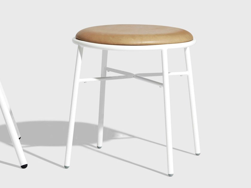 Low stool with integrated cushion PIPER | Stool with integrated cushion by DesignByThem