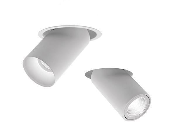 LED semi-inset adjustable spotlight PIPES RIO-RVO by Intra lighting