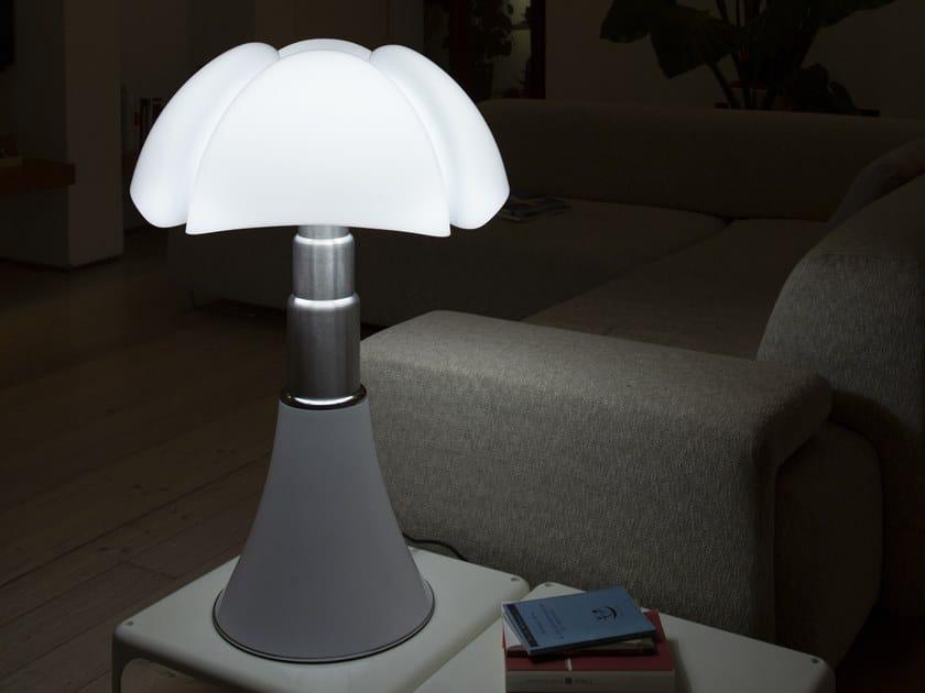 Lampada da tavolo a LED in metacrilato e acciaio inox PIPISTRELLO 4.0 by Martinelli Luce